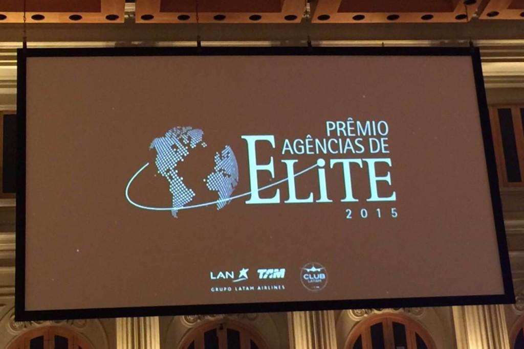 """Prêmio """"Agências de Elite 2015″, promovido pelo grupo LATAM."""