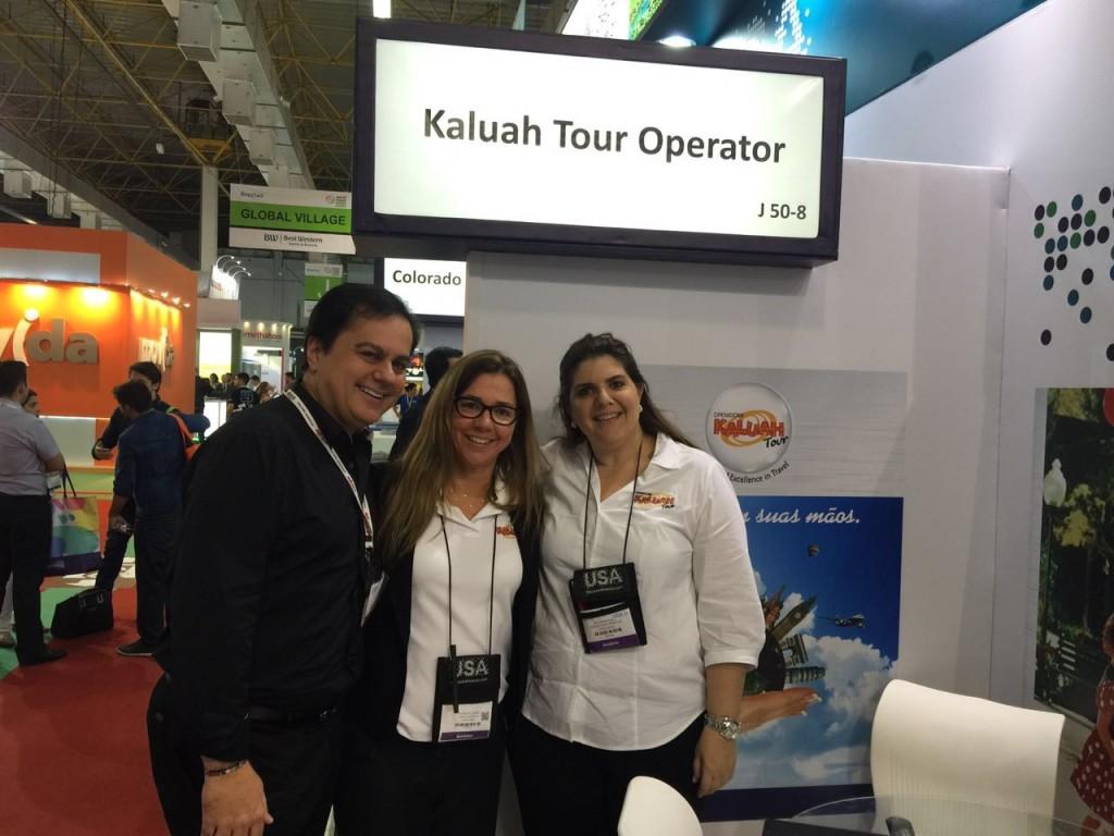 Visita ao stand da Kaluah Tours Operator, empresa que opera as excursões da StarTour há 15 anos.