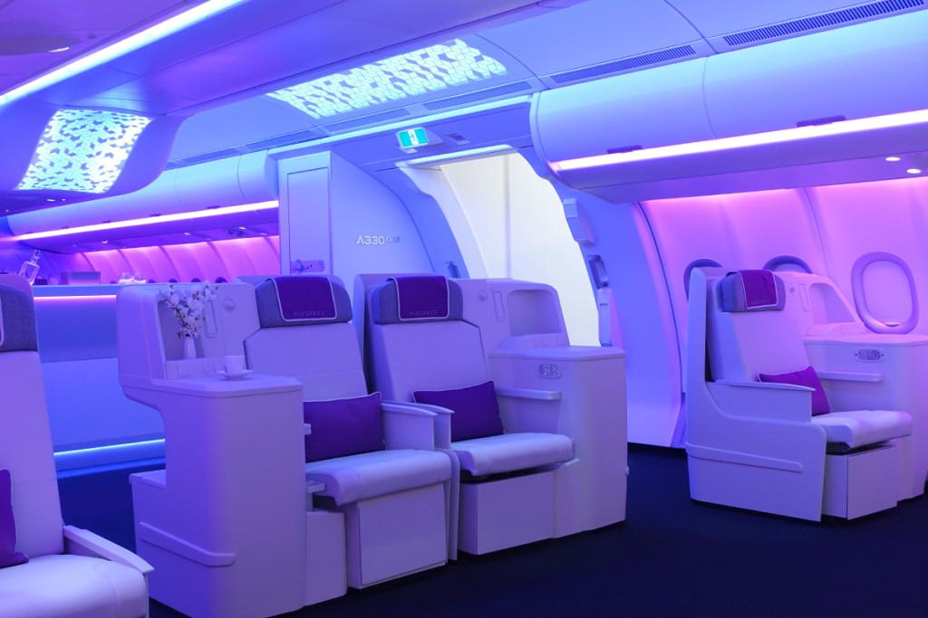 A executiva possui os assentos organizados no formato 1-2-1.