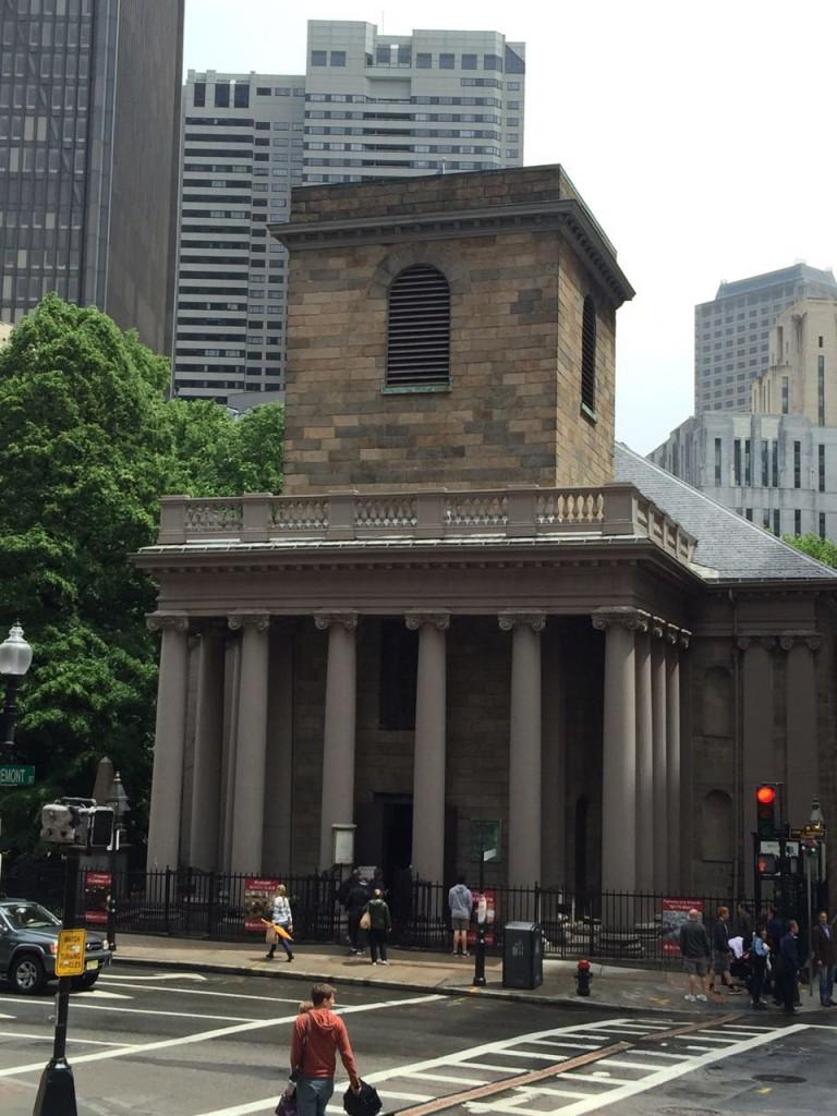 King's Chapel, a primeira igreja Anglicana da cidade.
