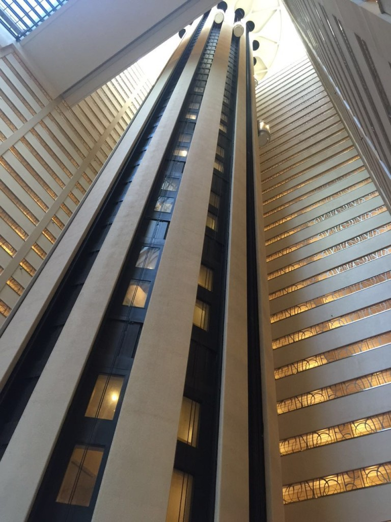 Elevador panorâmico, New York Marriott Marquis