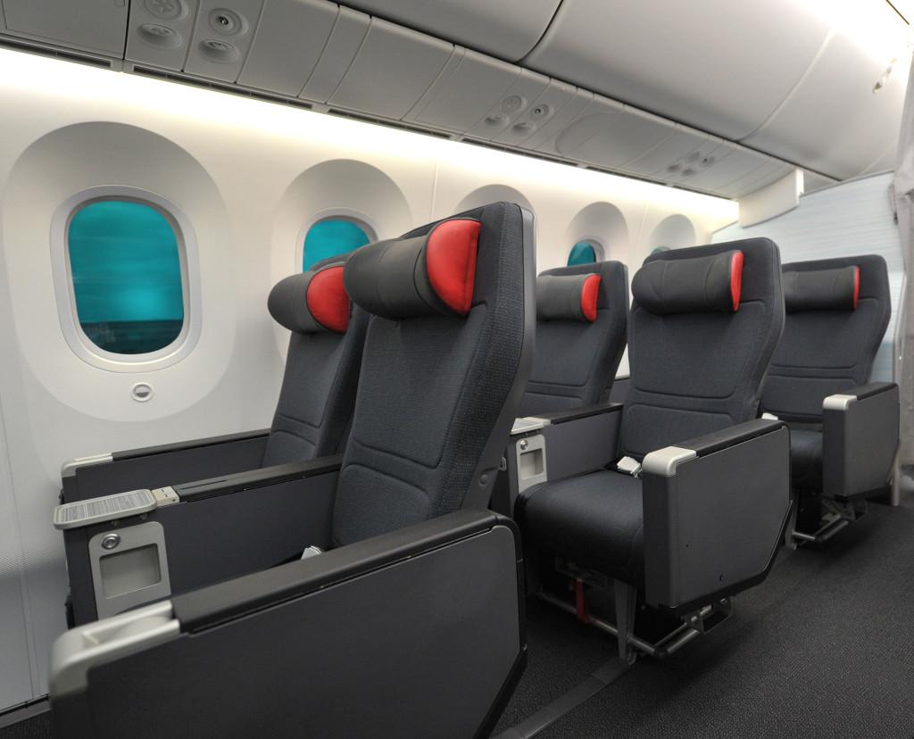 Cabine Premium Economy da Air Canada. (Divulgação)