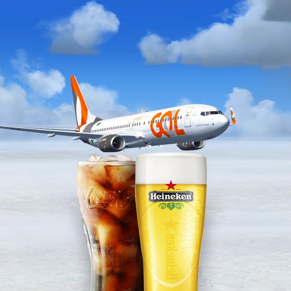 Heineken e Coca-Cola passam a integrar o cardápio da companhia