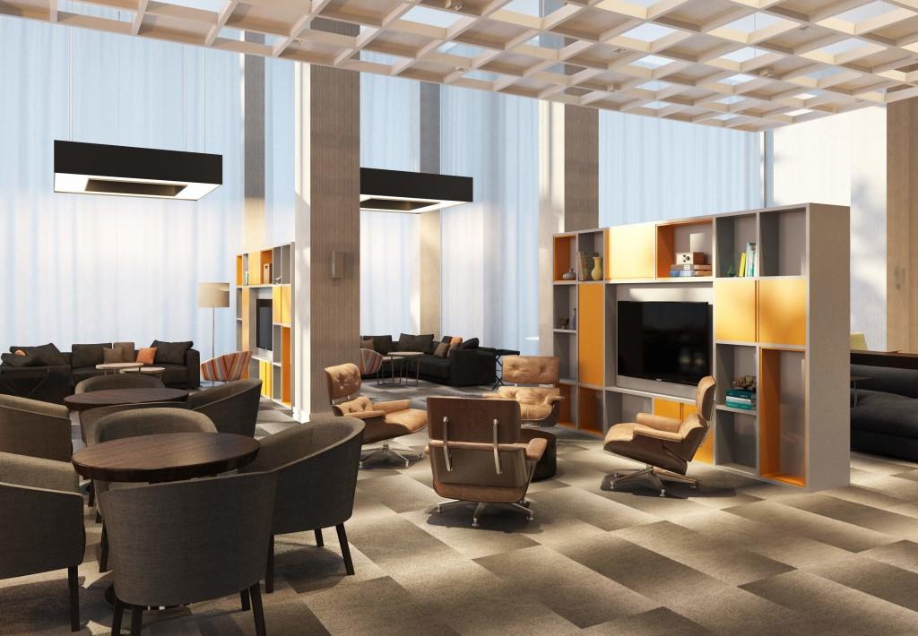 Área de estar no lobby