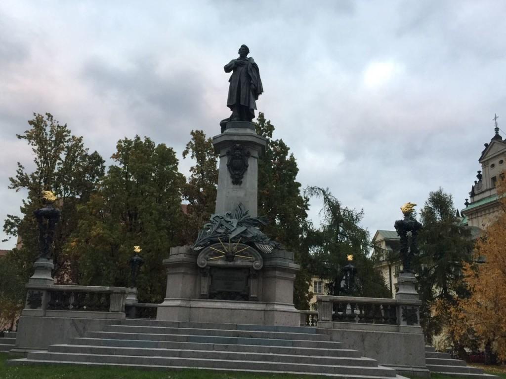 Monumento em memória de Adam Mickiewicz.