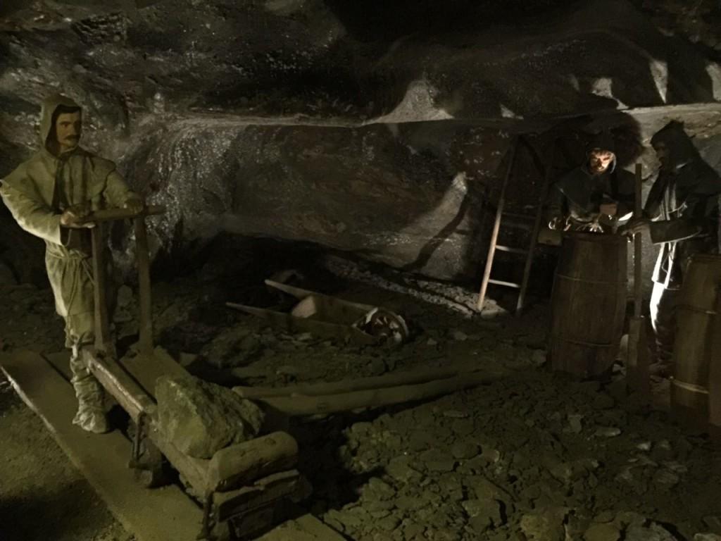 As minas de sal de Wieliczka, Polônia.