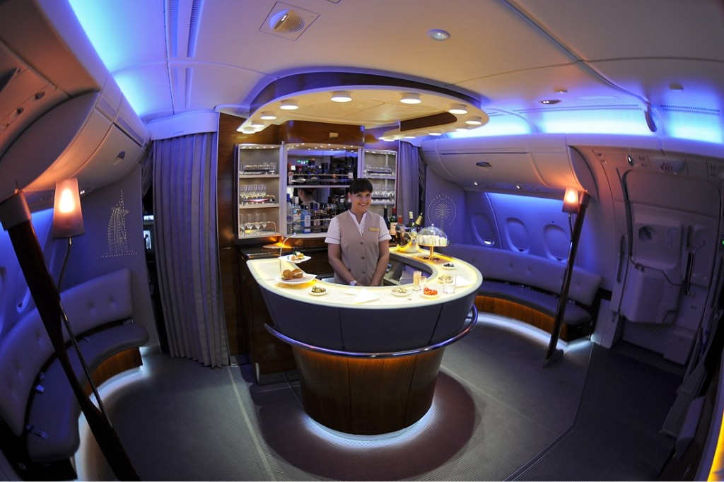 Air Lounge Bar, A380 Emirates.