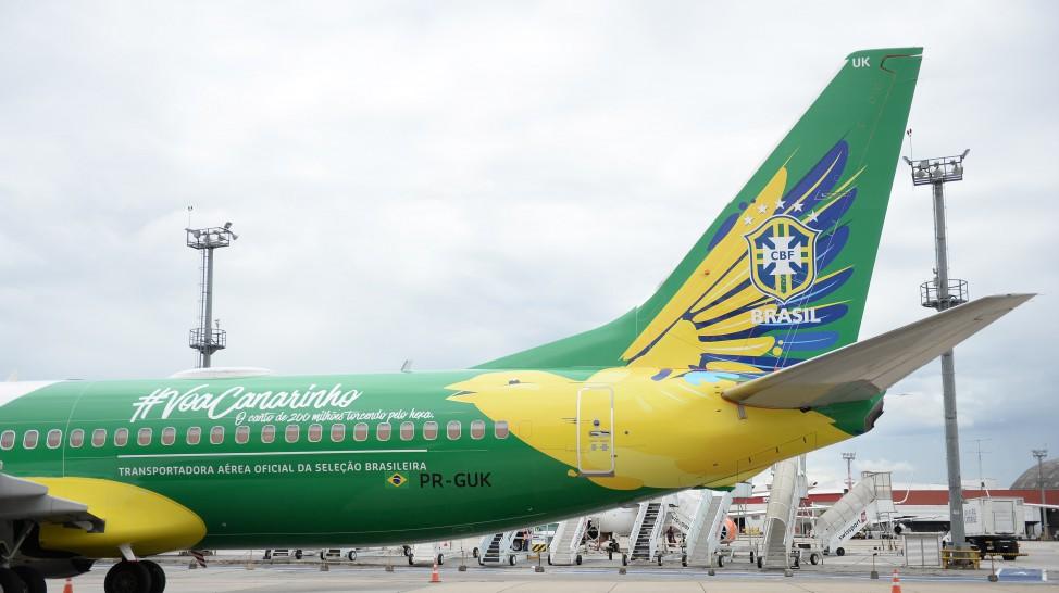 Avião GOL da Seleção Brasileira. (Foto: Ricardo Stuckert/CBF)
